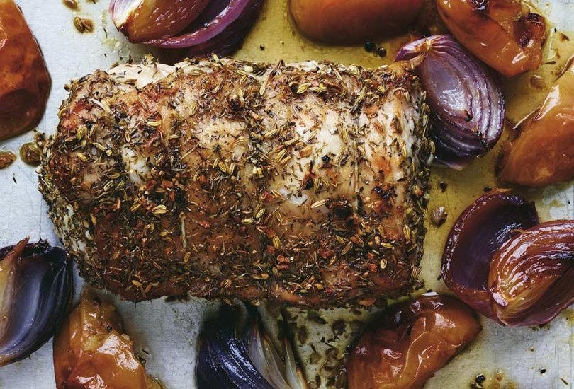 Roasted Pork, Fennel, and Onions - TheRecipe.Website