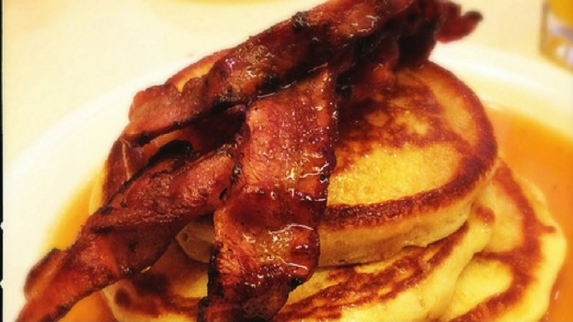 Canadian Bacon and Corn Pancakes