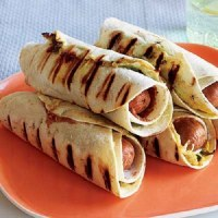 Turkey Frank Burritos