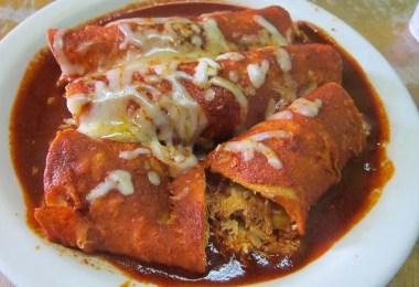 Chorizo Enchiladas with Guajillo Sauce