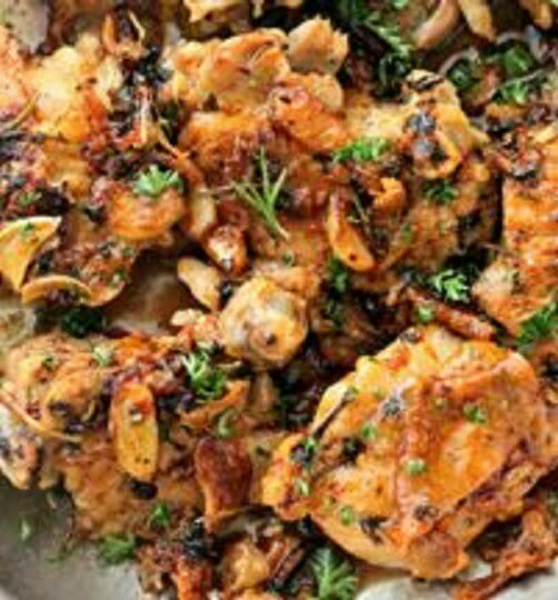Chicken with Browned Garlic Sauce