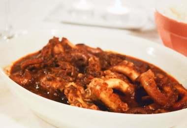 Spanish Octopus in Spicy Sauce - Pulpo en Salsa Picante - TheRecipe.Website