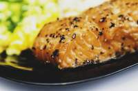 Frilled Salmon with Mustard Sauce - TheRecipe.Website