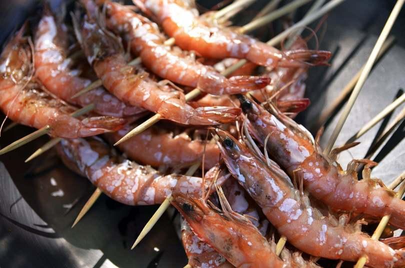 Greek Skewered Shrimp - Garides Souvlakia - TheRecipe.Website