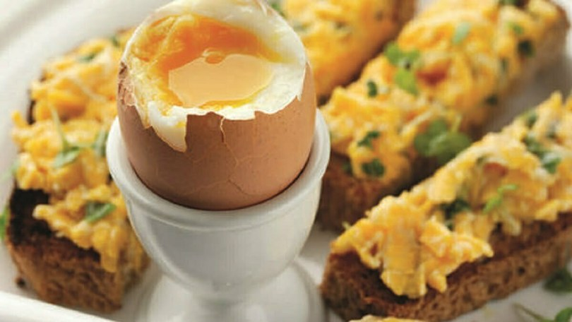 Boiled Egg with Cheese Soldiers