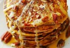 Apple Pecan Pancakes with Apple Spice Syrup