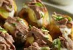 Baked Potatoes with Beef and Horseradish
