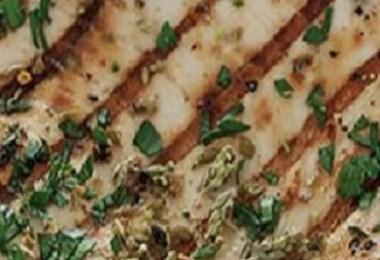 Grilled Fish with Oregano Sauce - Pesce al Salmoriglio
