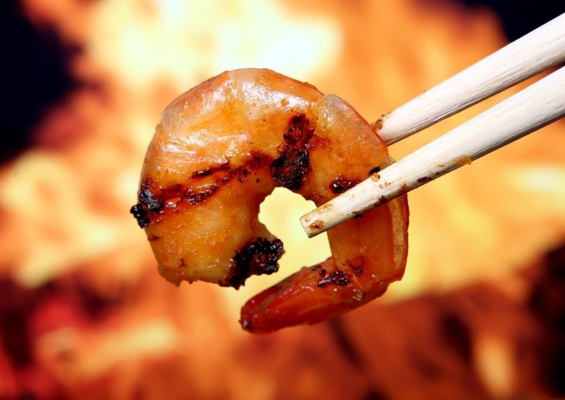 Bbq Prawns with Dipping Sauce