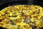 Pork and Mushroom Omelette