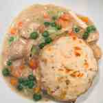 Dutch Oven Chicken Pot Pie And Biscuits The Recipe Bandit