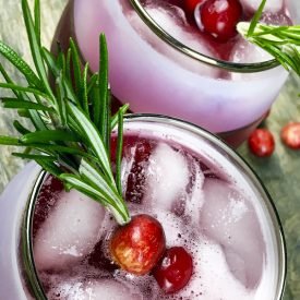 Cinnamon and Cumin-Infused Cranberry Spritzer
