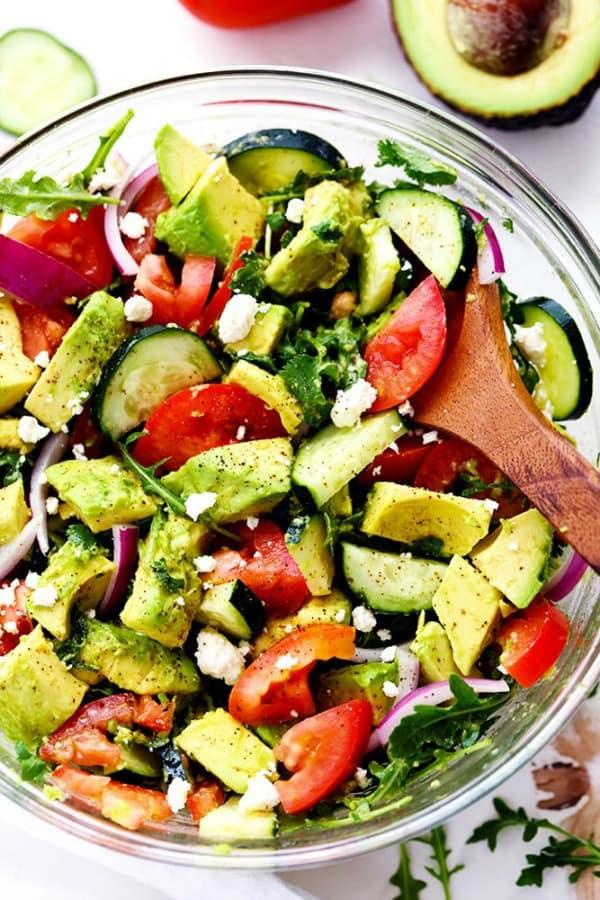 Avocado, Tomato and Arugula Salad
