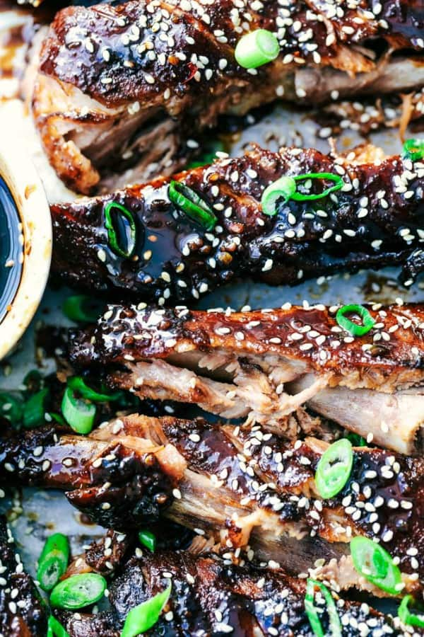 Slow Cooker Sticky Asian Ribs