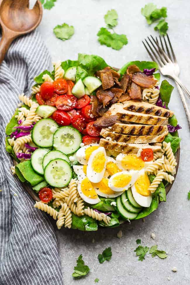 Balsamic Chicken Cobb Salad with Pasta | The Recipe Critic