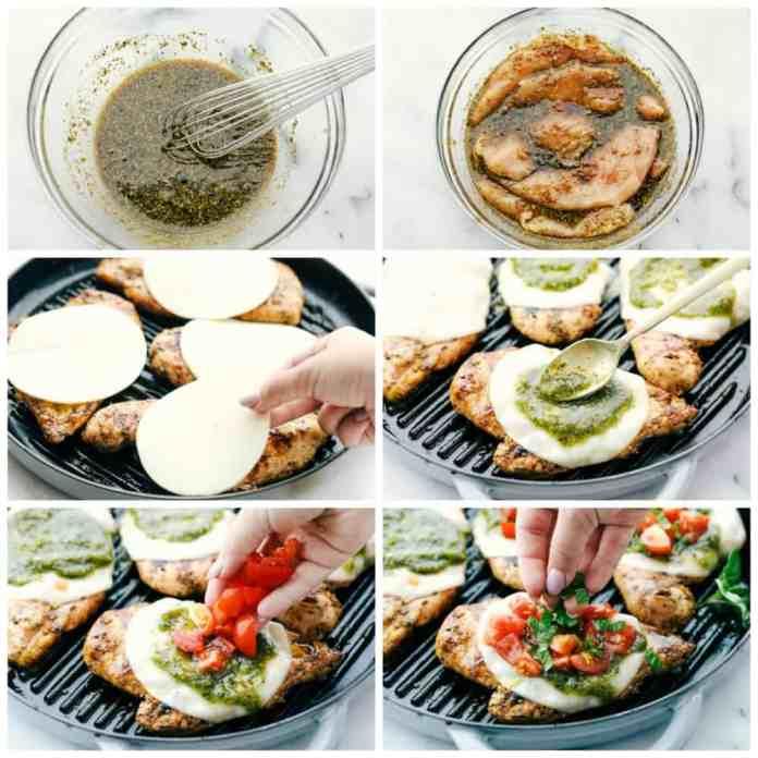 Steps to make Chicken Margherita.