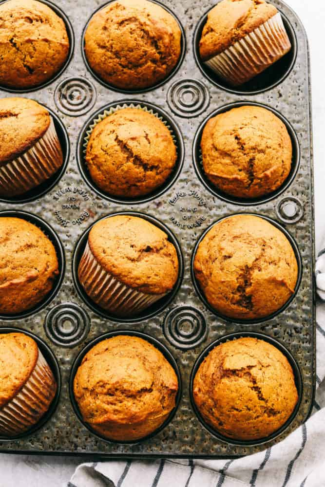Fluffy, soft, moist perfect pumpkin muffins.