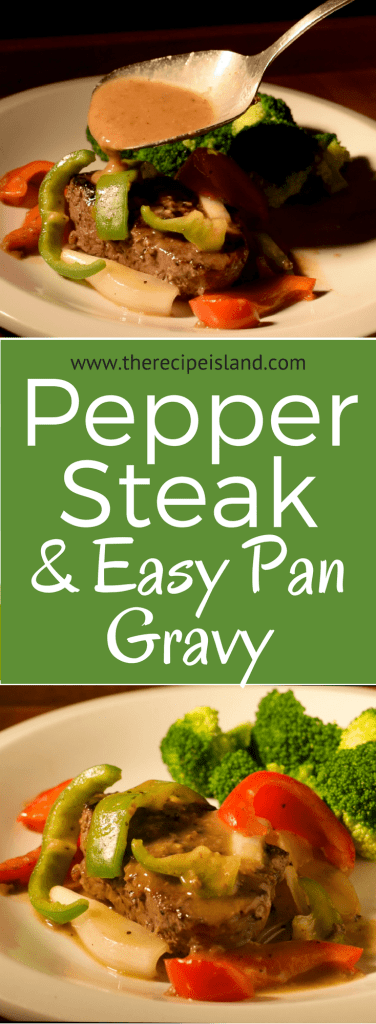 Pepper Steak with Pan Gravy