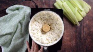 Process corn kernels until smooth.