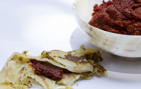 Serve warm with ghee and red chilli chutney. (See previous blog!)