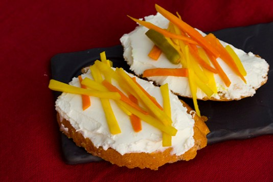 amba haldi on goat's cheese toast 5
