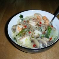 Spicy Shrimp & Bok Choy Noodle Bowl