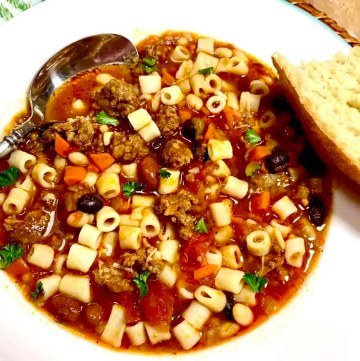 Italian sausage and triple bean soup