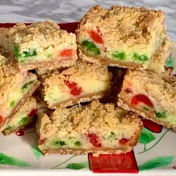 Very merry cherry cheesecake bars