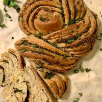 Easy Swirled Herb And Garlic Bread