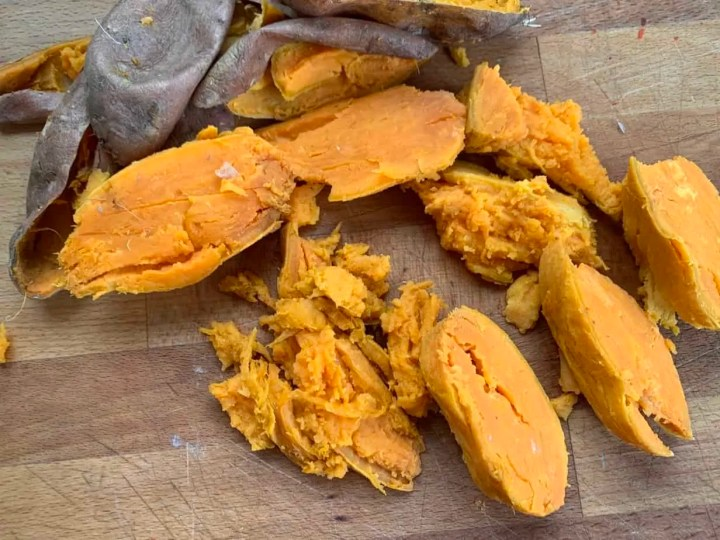 Sweet potatoes for the hash