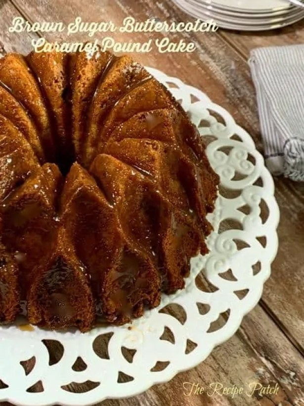 brown sugar butterscotch caramel pound cake