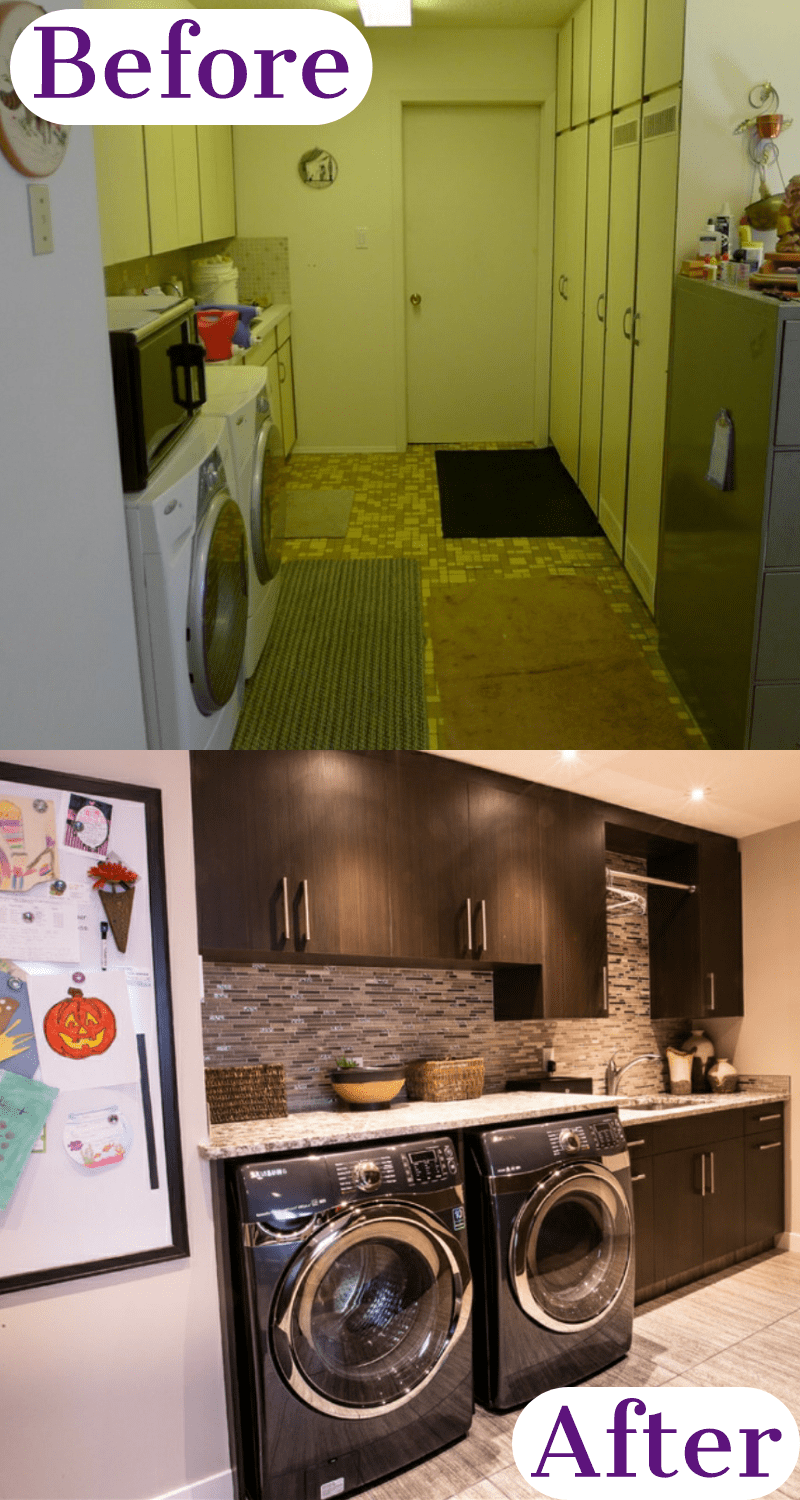 laundry room ideas in unfinished basement