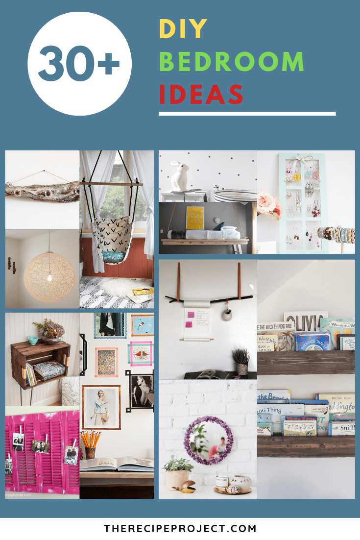DIY Bedroom Ideas (Decorating, Organization, and Wall Art DIY Ideas)
