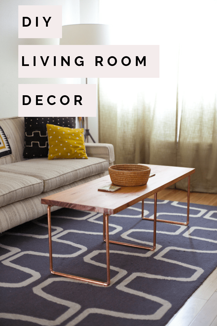 modern rustic decor living room diy