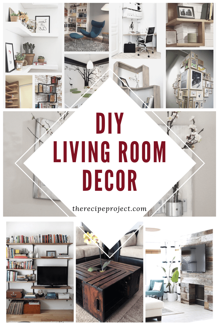 DIY Living Room Decor (DIY Ideas of Wall, Furniture, and Apartment On a Budget)