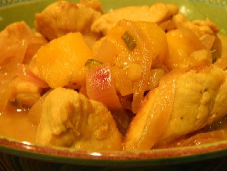 Chicken with Peach