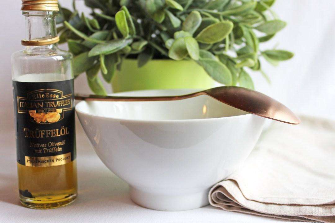 Karoffel-Lauchsuppe mit Trüffelöl