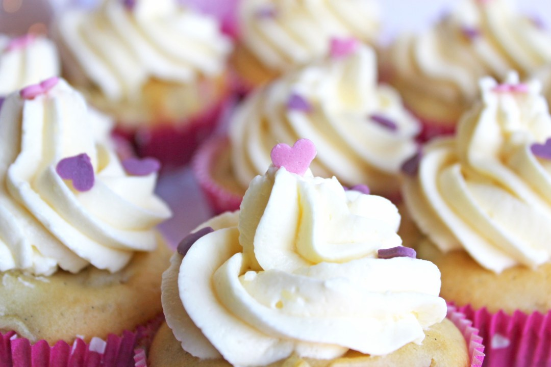 Rhabarber-Cupcakes Detailaufnahme