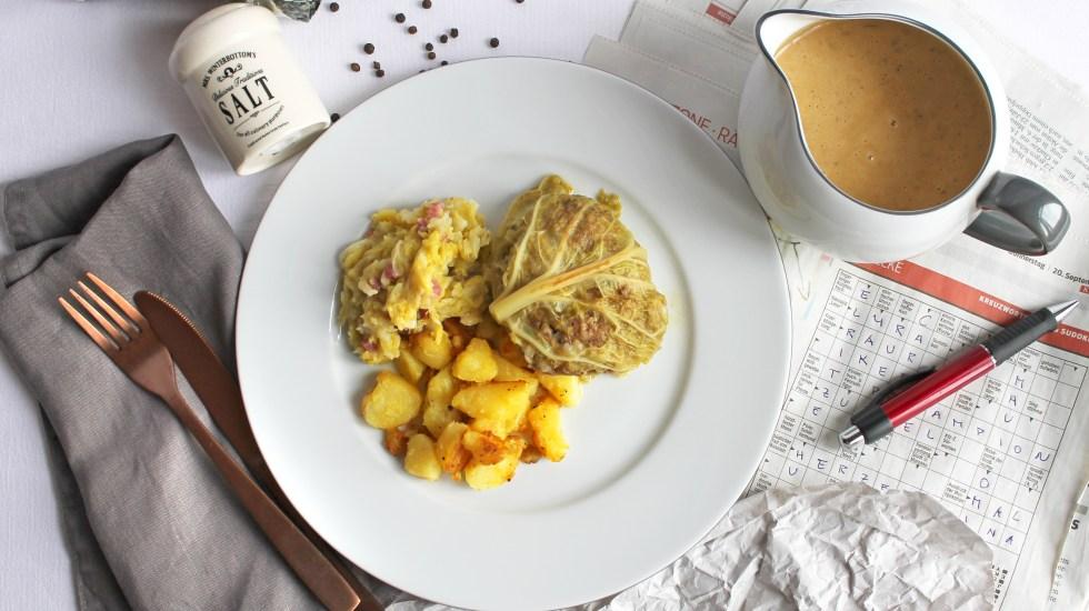 Polnische Kohlroulade / therecipettes.com