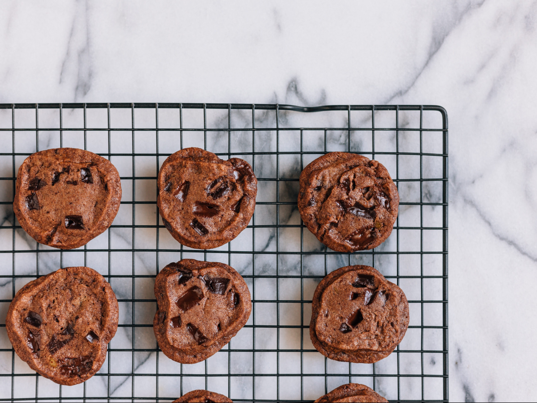 Cookies auf Kuchengitter