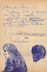 School roughbook - Sketch of Dick Tresilian