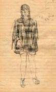 47 SB Plump girl in PVC coat