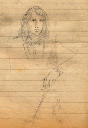142 SB Pencil study, art student