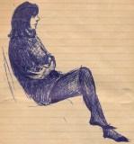 24 SB Girl in pullover & dark stockings