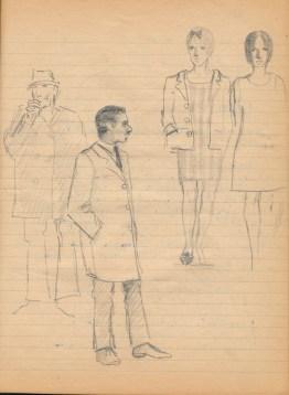 70 SB Pencil studies clothes