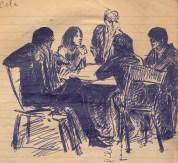 18 SB Group in cafe arguing/recklessfruit1/janeadamsart