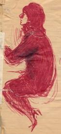 188 SB Carole in red biro/recklessfruit1/janeadamsart