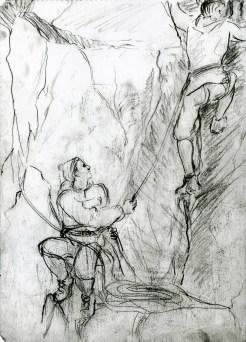 21 Climbers on the Rope/recklessfruit1/janeadamsart