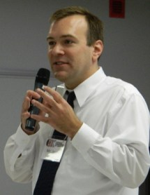 Jason Hall speaks at a program on immigration in this 2013 file photo. (Photo by Marnie McAllister)