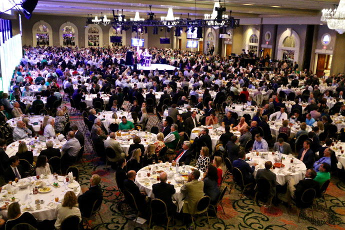 More than 1,100 people attended the Salute to THE GAME Luncheon held Sept. 28 at the Galt House Hotel. The luncheon, which is sponsored by the Catholic Education Foundation, raised $330,000, which will go to support Catholic education in the Archdiocese of Louisville.